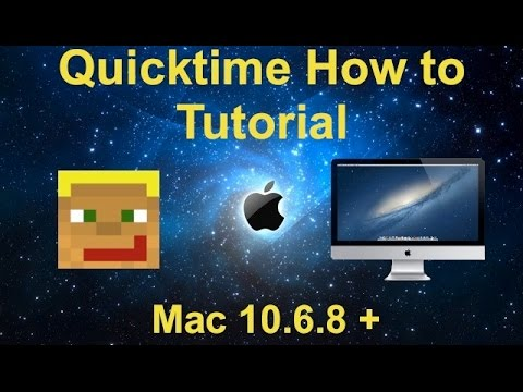 How to Record Screen Recordings With Quicktime (10.6.8)| Youtube Tutorial Part 1 | Mac Tutorials