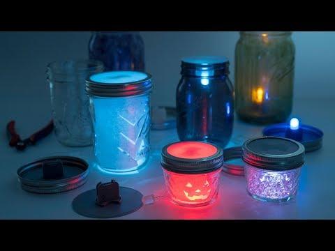 LED Mason Jar Lanterns // Becky Stern