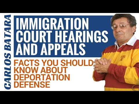Immigration Court Hearings And Appeals - Facts You Should Know About Deportation Defense