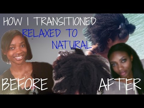 HOW I TRANSITIONED FROM RELAXED TO NATURAL HAIR | NO BIG CHOP