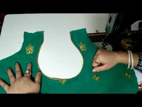 Matka neck cutting & stitching with invisible dori piping