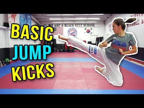 BASIC MARTIAL ARTS JUMP KICKS | Samery Moras Taekwondo