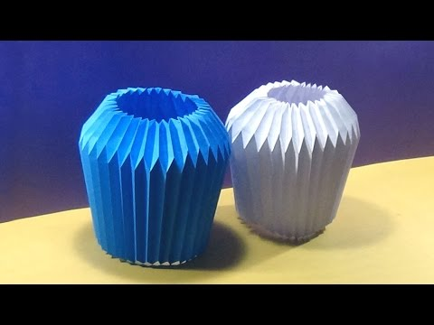 DIY Home Decor - Paper Folding Light Bulb Shade |