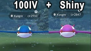 Super Lucky on Water Festival Event! 3 Shiny Kyogre, 100iv  and other water shiny!