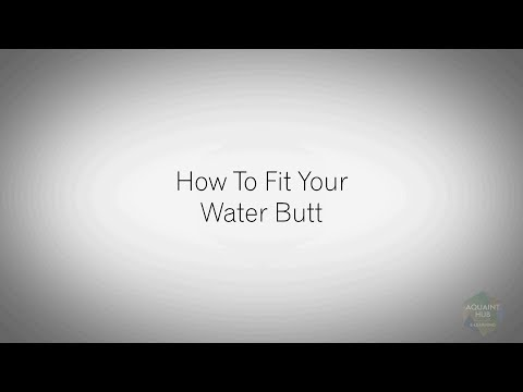 How To Fit Your Water Butt