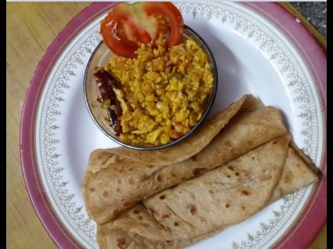 Onion Egg Fry - Side dish for Chapathi