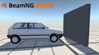 BeamNG drive - FIAT UNO VS BLOCOS DE CONCRETO.