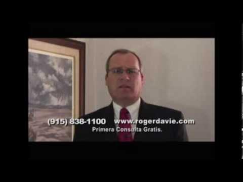 Se ha lastimado en el trabajo? Lo han despedido injustificadamente? Roger Davie El Paso aboagado