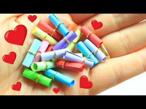 DIY  Miniature Secret Message Scrolls - DIY Miniature Secret Message Cards