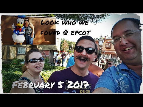 Look who we found @ Epcot - Also Ethan's first time at POP Century - February 4-5 2017