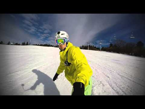 GoPro Hero 4 Black 120fps Snowboarding