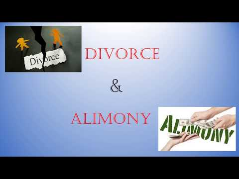 Divorce Law & Alimony in Canada