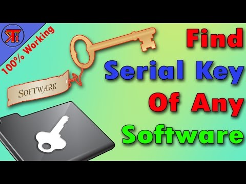 How to Get any Software Product Key | How To Find Serial Key Of Any Software.