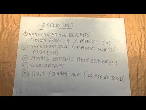 Overview of Gross Income: Inclusion & Exclusions