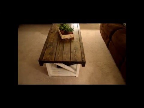 How to make a Coffee Table off Pintrest  - Anna White Design