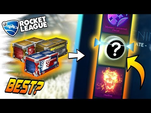 Rocket League Crate Opening: THE NEW BEST CRATE? - For Painted Items, Mystery Decals? (Trade Ups)