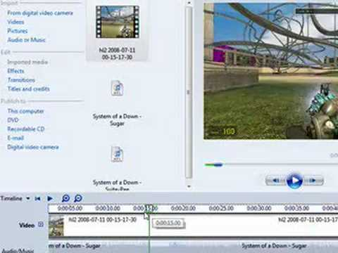 How to cut audio in Windows Movie Maker