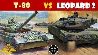T-80 vs Leopard 2 Main Battle Tank Comparison