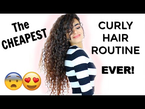 LONG CURLY HAIR ROUTINE FOR $3