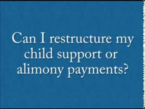 Can I restructure my child support or alimony payments by filing for Bankruptcy?