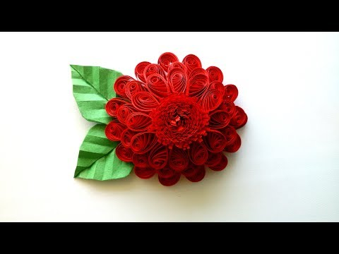 How to make a 3D Quilling Flower - Creative Paper.