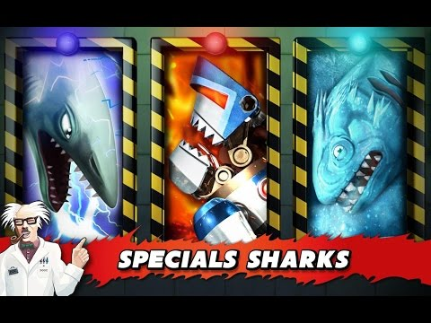 All Specials SharksNatasha,Electro Shark,Ice Shark,Robo Shark,Pyro Shark)Andorid Gameplay!