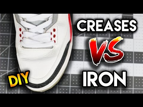 Does Using An Iron Really Get The Creases Out?! | How To Remove Creases From Your Shoes