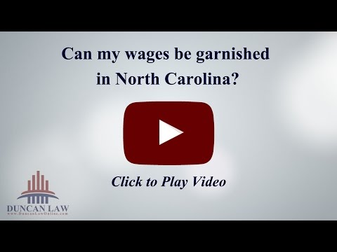 Can my wages be garnished in North Carolina?