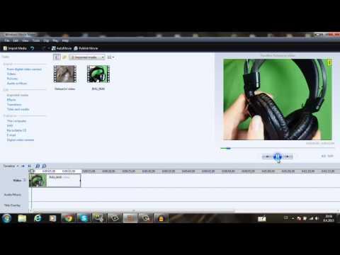 Green Screen v Windows Movie Makeru !! (Klíčování)