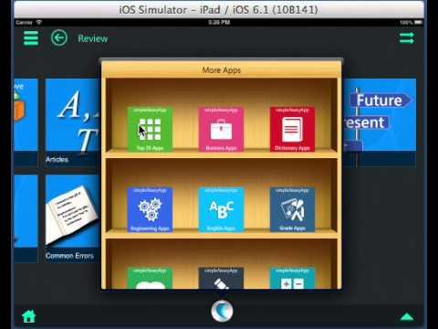 Demo of English Grammar, Writing*, Spelling* and Vocabulary* App on iPad