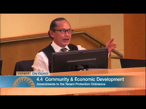 Tam Nguyen's speech on San Jose additional rent control.