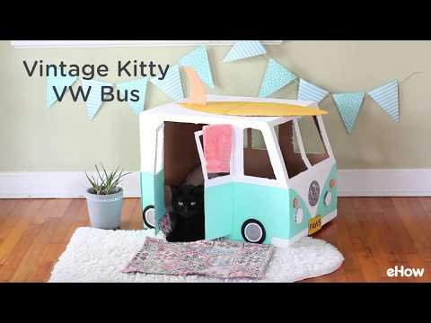 Cardboard VW Bus/Cat House Tutorial