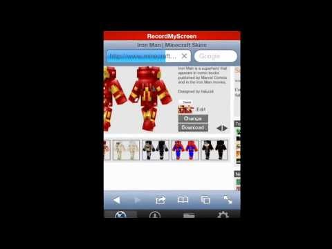 How to change your skin in minecraft pe