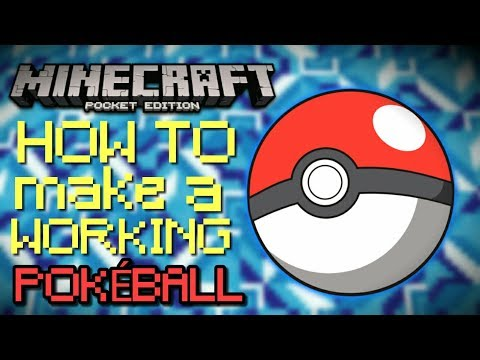 How to make a working Pokéball in MCPE | Creation
