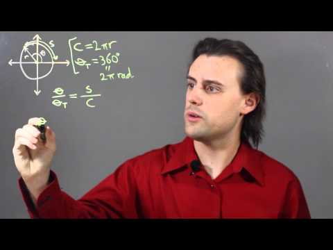 How to Measure the Arc or Central Angle : Trigonometry, Graphs, & Other Math Tips