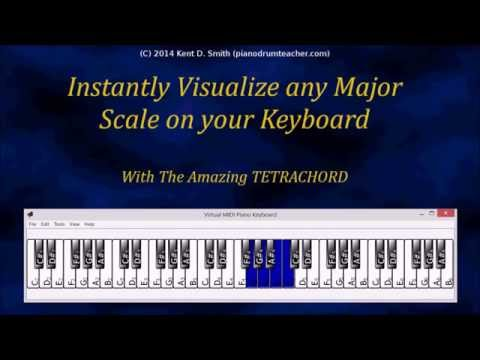 Instantly Visualize any Major Scale on Your Piano - The Amazing TETRACHORD