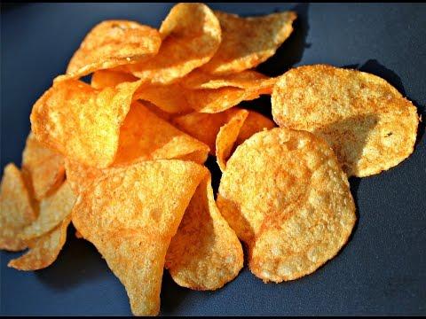 Thin Crispy Baked Potato Chips
