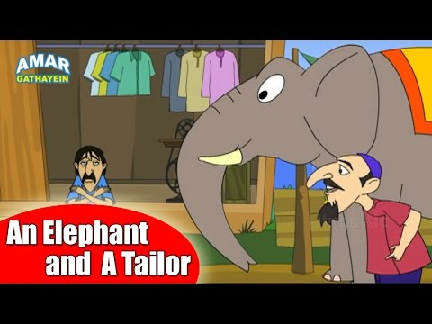 An Elephant and A Tailor | एक हाथी और एक दर्जी | Animated Moral Story for Kids in Hindi