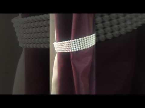Diamante rhinestone tie backs