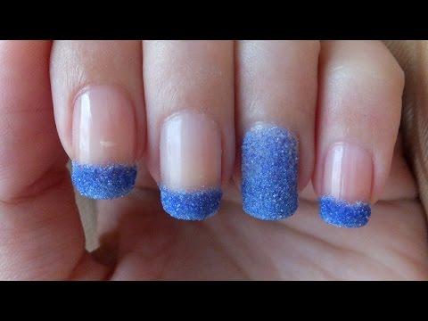 Glitter Powder Nails Nail Art Tutorial