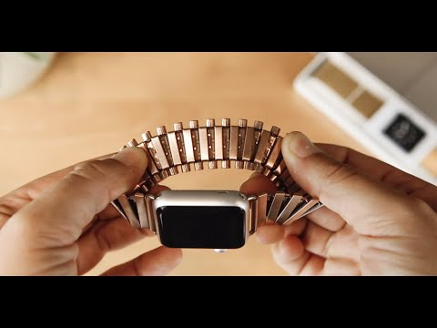 Fill the style deficit in tech: Rilee & Lo Rose Gold Apple Stretch-Link Watch Band [CoM Store]