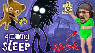 AMONG THE SLEEP Teddy Bear Plays & Shadow Mans HUNGRY! R.I.P !! FGTEEV Super RAGE! (Part 3)