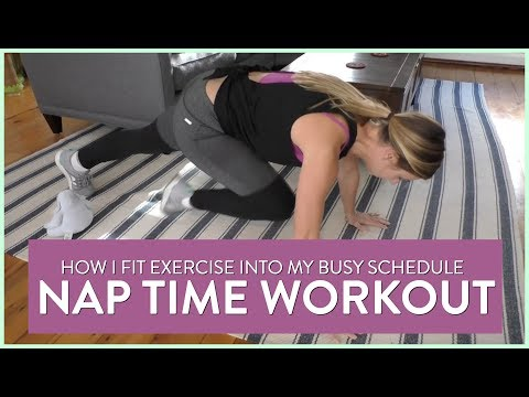 How I Fit Exercise Into My Busy Schedule | HOME WORKOUT SarahFit