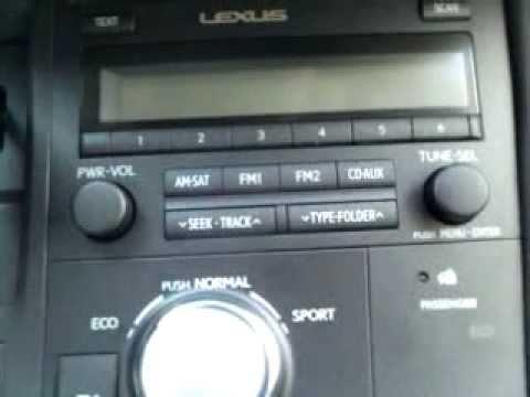 2011 Lexus CT200h Hybrid Non-Nav.  Adjusting the Hands-Free Voice Guidance Volume Video.