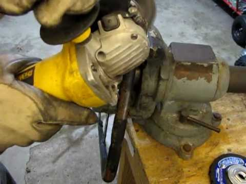 How to Remove Paint and Rust From Metal with an Angle Grinder