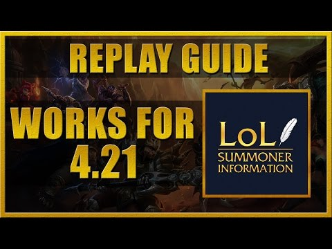 LSI Replay Guide - How to record League of Legends gameplay