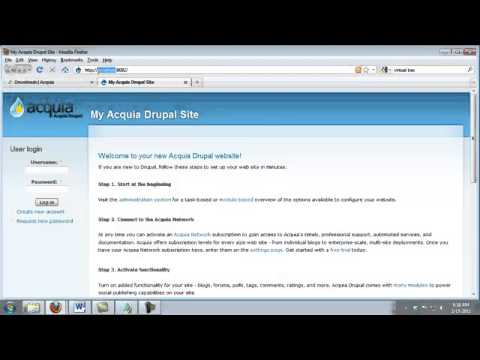 4 Installing Drupal On A Personal Computer Tutorial