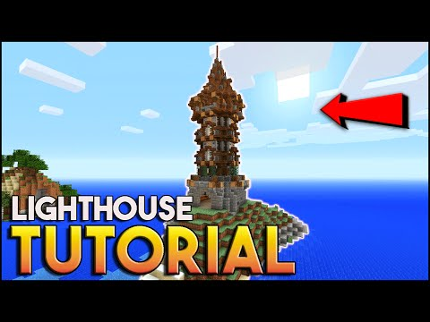 Minecraft: How To Build A Lighthouse Tutorial ( Medieval Tutorial ) Cool Seed