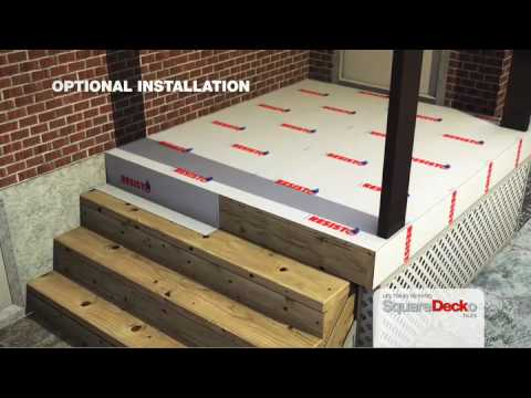 Deck tiles to cover concrete-ciment and wood surfaces