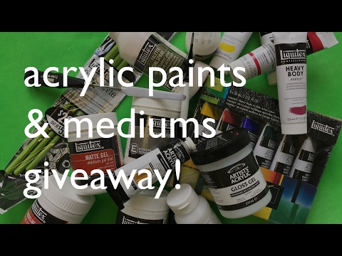 Acrylic Mediums, Brushes, Paints Giveaway
